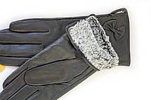 Женские кожаные перчатки КРОЛИК Большие W22-160062s3, фото 2