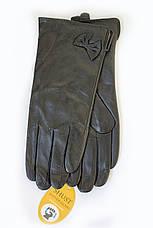 Женские кожаные перчатки ВЯЗКА СЕНСОРНЫЕ Большие 2-340, фото 2
