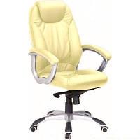 Кресло для руководителя Неон кожзам бежевый