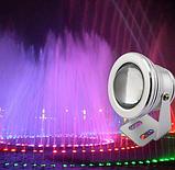 Мультицветной линзовый прожектор с блоком питания и пультом управления LED RGB IP67 10W 12V, фото 2
