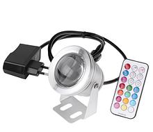 Мультикольорової лінзовий прожектор з блоком живлення і пультом управління LED RGB IP67 10W 12V