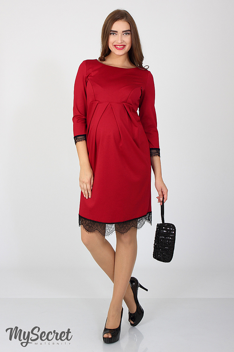 604382bbe1f38c5 Вечернее платье для беременных и кормящих Rosemary, карминово-красное. 973  грн. Гарантированное наличие. Купить