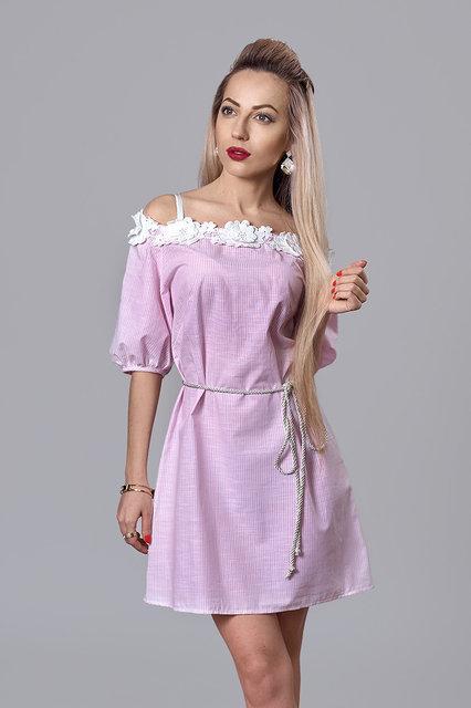 Летнее платье  с открытыми плечами с тонкого лена.Разные цвета.