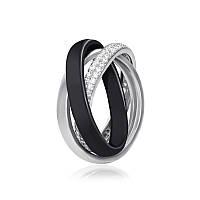 """Серебряное кольцо с керамикой """"171"""""""