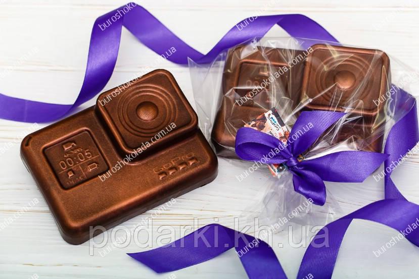 Брендированная GoPro камера под заказ из шоколада