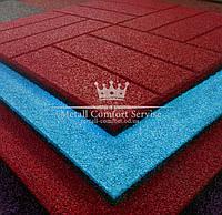 Резиновая плитка 500х500х20 красная