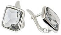 """Серьги """"Шедар"""" с кристаллами Swarovski покрытые родием (b832f100)"""