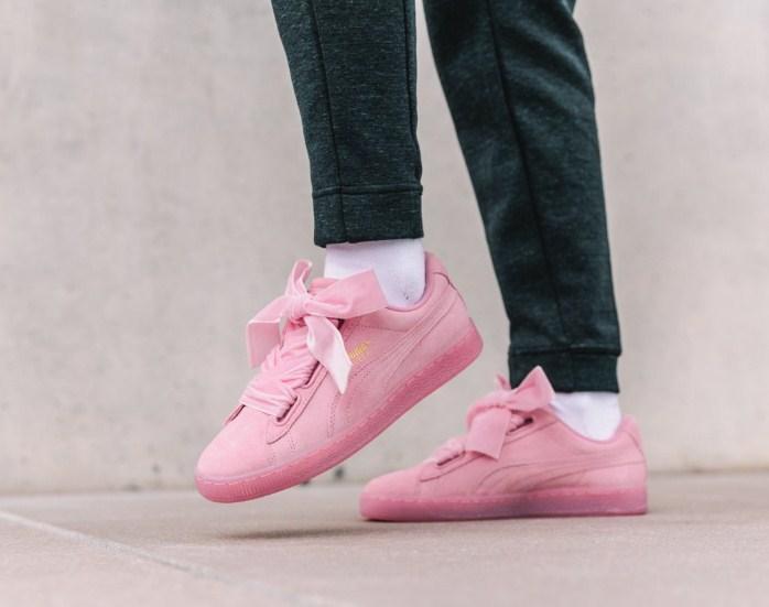 lowest price bc241 480b9 Puma Suede Heart Reset Pink | женские кроссовки / кеды; розовые