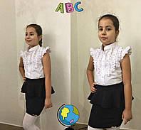 Школьная стильная блузка для девочки