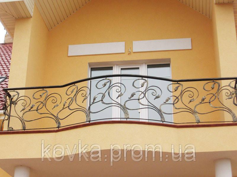 Кованое балконное ограждение