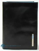 Женский кожаный кошелек Piquadro вертикальный для кредитных карт PU1129B2_N черный