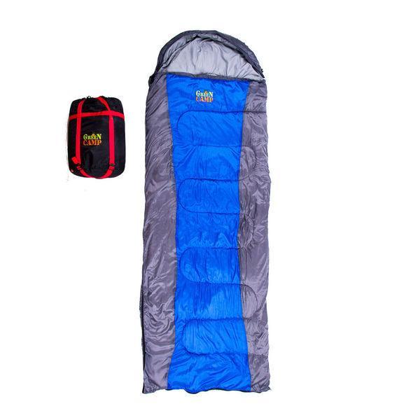 Спальный мешок практичный GreenCamp GrC1009-BL весна-осень 450 гр/м2
