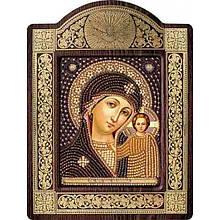 Ікони з чеським бісером в рамці - кіоті: Богородиця Казанська 9*11см НС