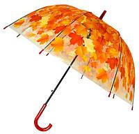 Зонт Для подростка трость полуавтомат Кленовые листья 18-3122-1