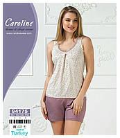 """Женский комплект """"Caroline"""", майка+шорты,большие размеры"""