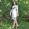 Жіноче лляна сукня з вишивкою, фото 2