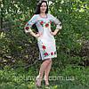 Жіноче лляна сукня з вишивкою, фото 3