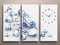 Годинник настінний діаманти