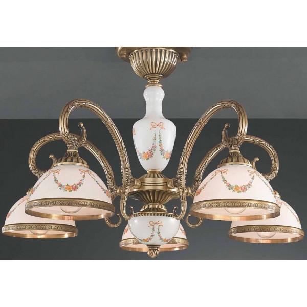 Потолочный светильник RECCAGNI ANGELO PL 8130/5 oro fr./ festoni