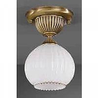 Стельовий світильник RECCAGNI ANGELO PL 8700/1 bronzo/ vetro bianco