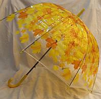 Зонт Для подростка трость полуавтомат Кленовые листья 18-3122-3
