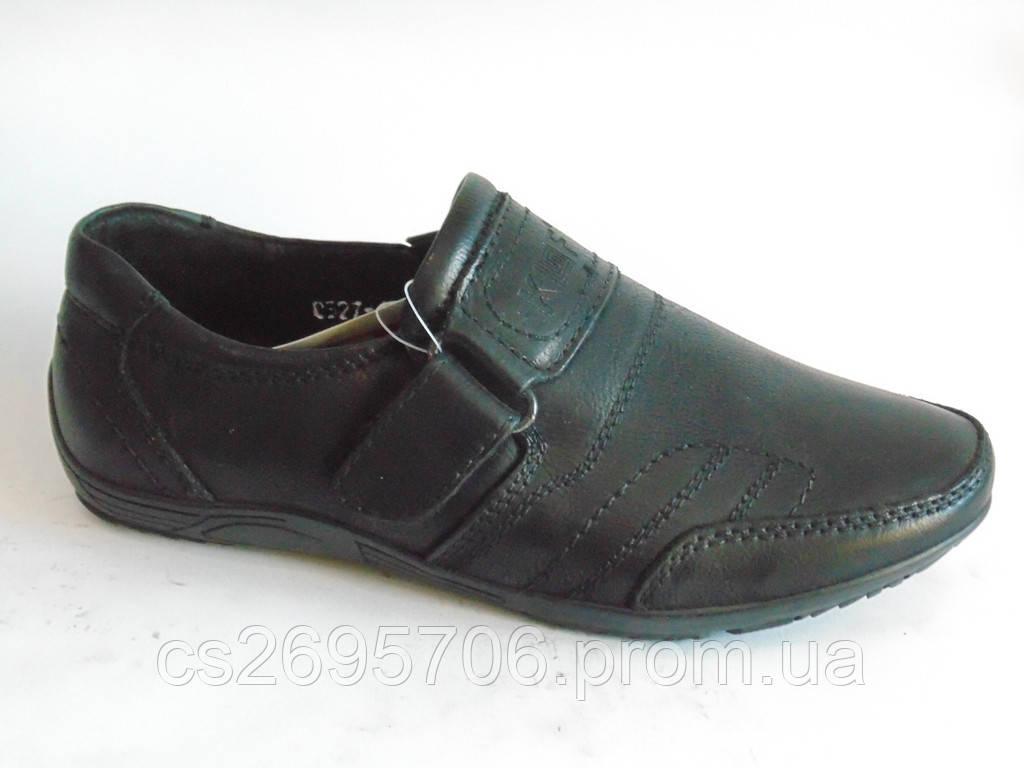 Туфли, мокасины школьные кожаные для мальчиков Kangfu 27 -32р -  Интернет-магазин