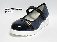 Аккуратные туфли для девочки в школу мод. 7603 р. 32-37