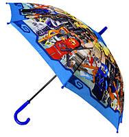 Зонт Детский трость полуавтомат Ниньзяго 18-3123-1