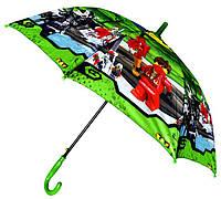 Зонт Детский трость полуавтомат Ниньзяго 18-3123-2