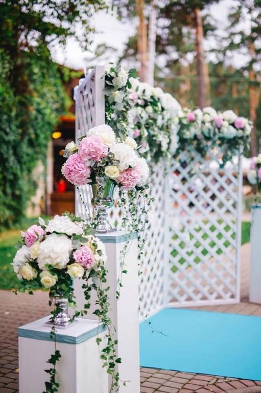 Оформления места проведения свадьбы. Декорирование выездной церемонии. 13