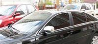 Хром накладки на зеркала (нерж) Toyota camry xv40 (Тойота Камри 40 кузов 2006г-2011г)