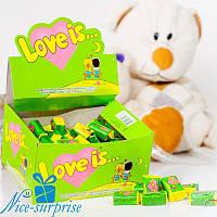 Жвачки LOVE IS... яблоко-лимон 100 шт.