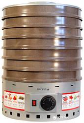 Електросушарка металева для фруктів і овочів Profit M (Профіт М) ЕСП-2 820 Вт об'ємом 20 літрів (сіра)