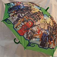 Зонт Детский трость полуавтомат Ниньзяго 18-3123-4