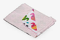 Детский плед-конверт Twins Minky Лето 75*75, розовый