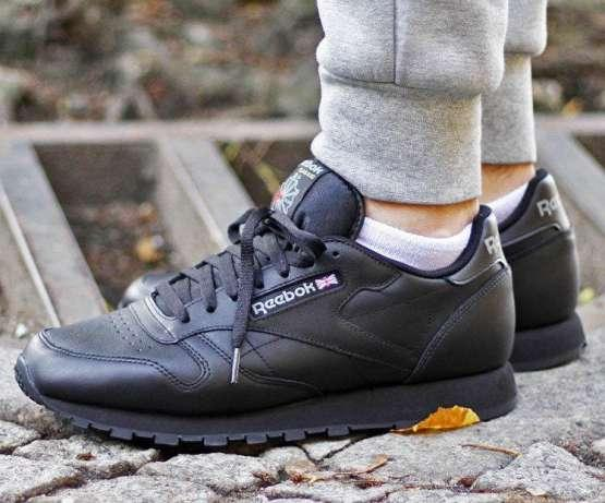 Кроссовки Reebok Classic Leather Black 2267 -