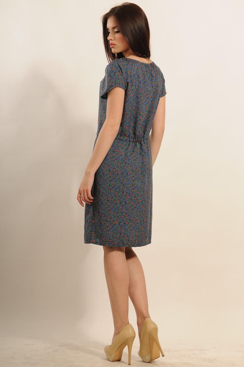 1c55db1707f ... Легкое свободное летнее платье с цветочным принтом из натуральной  летней ткани штапеля