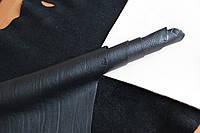 Натуральная кожа для обуви и кожгалантереи черного цвета арт. СК 1047, фото 1