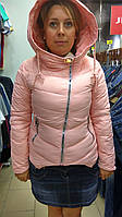 Куртка розовая с капюшоном (L, XL, XXL)