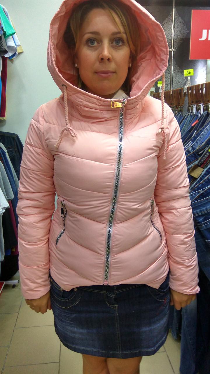 Куртка розовая с капюшоном (М) - Интернет - магазин JEANSTON   в Полтавской области
