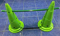 Фишка спортивная с отверстиями для перекладин и держателем сверху (высота 50 см)