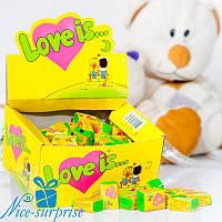 Жвачки LOVE IS... кокос-ананас 100 шт.