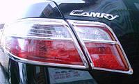 Хром накладки на стопы (задние фары) Toyota camry xv40 (Тойота Камри 40 кузов 2006г-2011г)