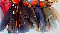 Детские осенние куртки-парки  для мальчиков 4-8 лет,цвета разные,опт и розница S498