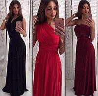 Длинное женское платье-трансформер из масла P7022