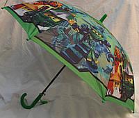 Зонт Детский трость полуавтомат Ниньзяго 18-3123-5