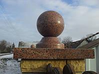 Крышка накрывная столба красная с красным шаром № 14.