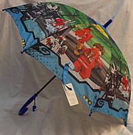 Зонт Детский трость полуавтомат Ниньзяго 18-3123-6