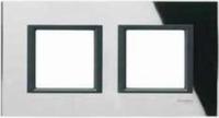 Рамка 2 поста Черное зеркало MGU68.004.7C1 Schneider Electric Unica Class