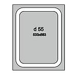 Дзеркало з лэд підсвічуванням для ванної кімнати d-55, фото 2